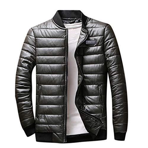 Daysing Herren Winterjacke Daunenjacke Lässige leichte Übergangsjacke Oversize Sweatjacke Reißverschluss Sportswear Hochwertige Warme Steppjacke M-8XL