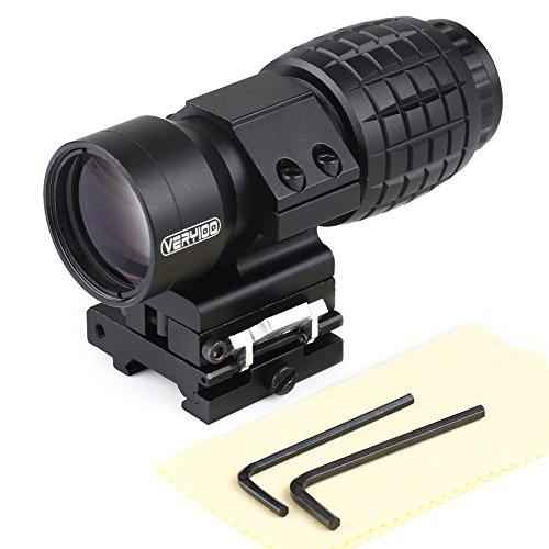 VERY100 Vergrößerungsglas Bereich 3X Magnification für Red Dot Sight Flip bis zur Seite Optiklinse Abdeckunge (3X Magnification)