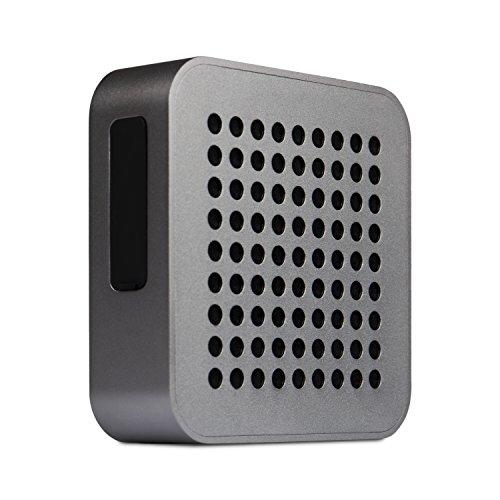 BLAUPUNKT BT 50 DG Bluetooth Lautsprecher mit Mikrofon für Freisprecheinrichtung Box/Stereoanlage wireless - Akku Musikanlage Audio System und Bass 5 W RMS (TV/PC/Musik-Streaming) dunkel grau