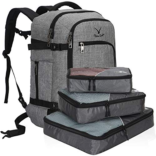 Hynes Eagle 40L Carry on Backpack Flight Approved Hand Luggage Travel Cabin Bag 51x34x25cm Grey