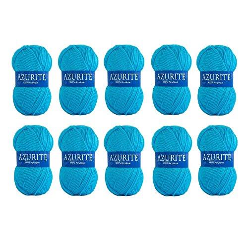 41d14b395e03 Distrifil- Laine Acrylique Coloris Bleu Azur - Grosseur 3-3,5   Lot