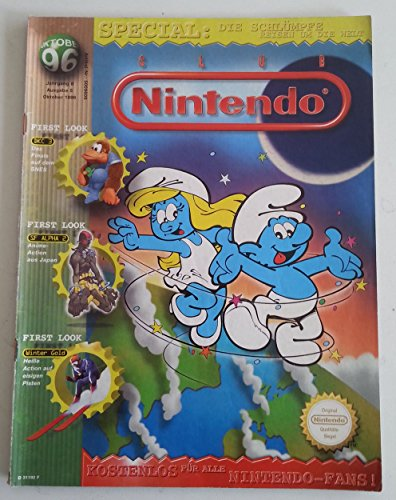 Club Nintendo Magazin SNES Super Nintendo NES GB (u.a. über Schlümpfe Donkey Kong Country 3 Lufia Tetris Street Fighter Alpha 2) Spieleberater Zeitschrift Ausgabe 5 Okt. 1996