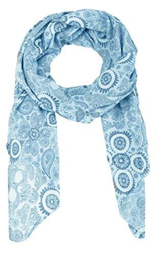 Zwillingsherz Seiden-Tuch für Damen Mädchen Paisley Elegantes Accessoire/Baumwolle/Seiden-Schal/Halstuch/Schulter-Tuch oder Umschlagstuch einsetzbar - hbl