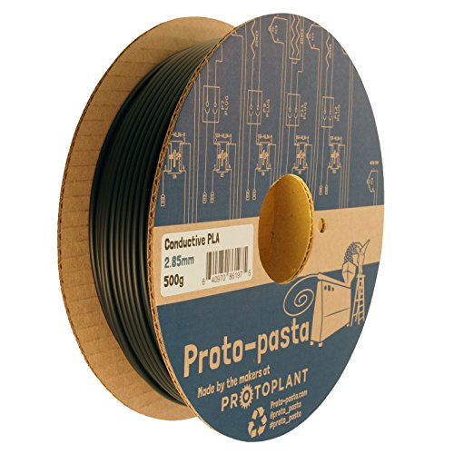 proto-pasta cdp12805conductores eléctricos carbono Bobina, Pla compuesto 2,85mm, 500g, Negro