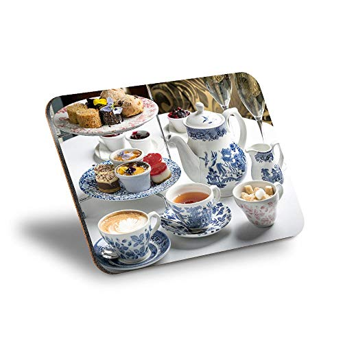 Destination Vinyl ltd Mantel individual de corcho 290 x 215 – Tetera alta Tearoom Cakes Cafe Workplace/Mantel de mesa/lavable, resistente al agua #15768