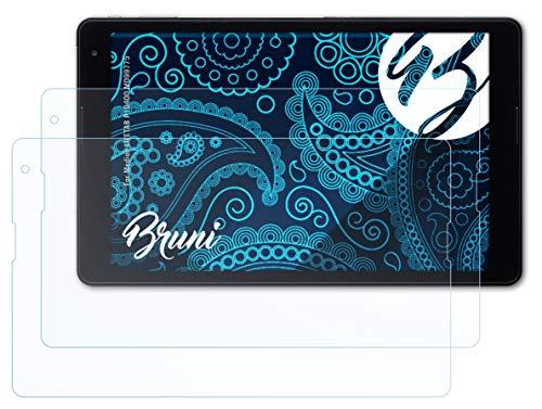 Bruni Schutzfolie kompatibel mit Medion LIFETAB P10400 MD99775 Folie, glasklare Bildschirmschutzfolie (2X)