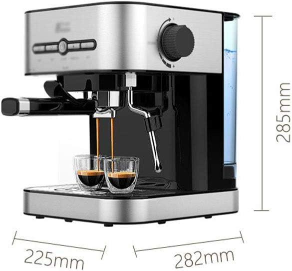 NLRHH Machine à café Petit Commerce Lait en Mousse Semi-Automatique Machine à café Machine à café Goutte à Goutte, Argent Peng (Color : Silver) Silver