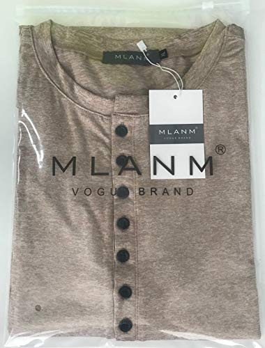 MLANM-Mens-Casual-Slim-Fit-Basic-Henley-ShortLong-Sleeve-Fashion-T-Shirt