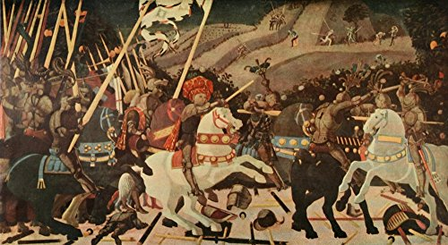 Posterazzi Studio 84 1922 The Battle of San Romano c.1455 Poster Print by Paolo Uccello, (24 x 36)