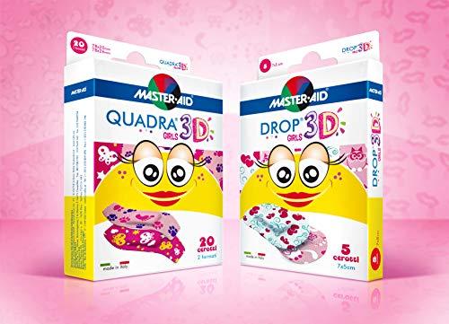 Vorteilspack sensitive Kinderpflaster, QUADRA® 3D, DROP® 3D - MASTER AID (Pflastermotive für Mädchen)