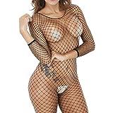 Unterwäsche Damen,Hffan Frauen Sexy Dessous-Sets Fischnetz Crotchless Babydoll Nachtwäsche...