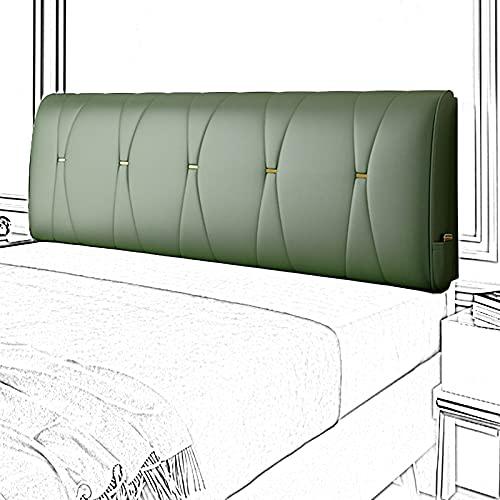 AYLYHD Cabecero Cama Tapizado, Lavable Cabezal Tapizado Alta Elasticidad Relleno de Esponja de Látex para Hotel, Cama Diván Cabecero Cojines, Sin Cabecero (Color : Green, Size : 120x60x20cm)