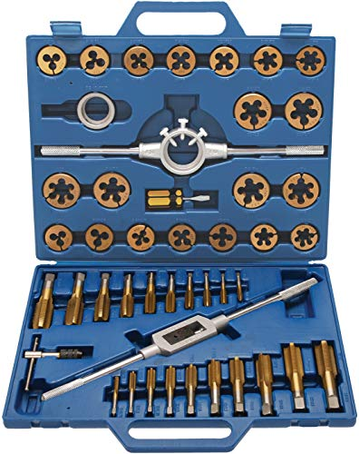 BGS 1899   Gewindeschneid-Satz   45-tlg.   Tin-beschichtet   M6 - M24   metrisch   inkl.Kunststoff-Koffer