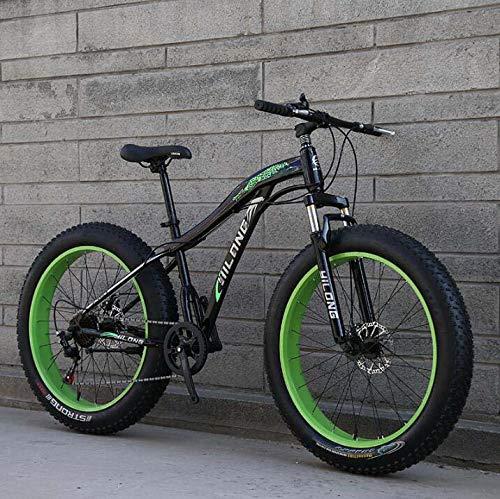 Mountainbikes, Fat Tire Hardtail Koolstofstalen frame Mountainbike, Verende voorvork Mountainbike, Dubbele schijfrem