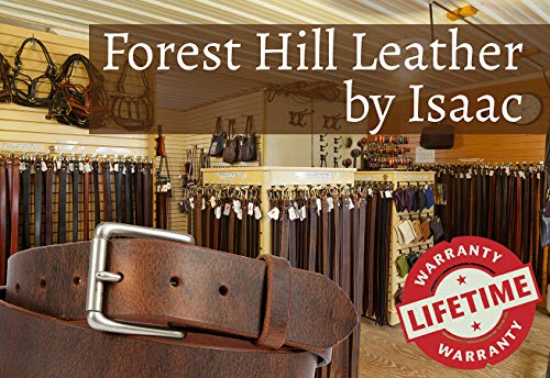Two Prong, Heavy Duty, 1-1/2″ Solid Leather Belt, Amish Made by Hand in Lancaster, PA