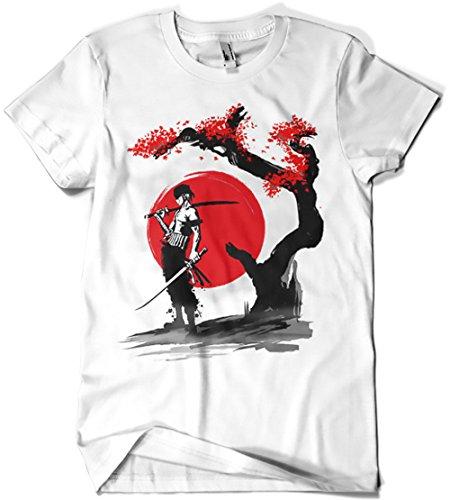Camiseta con diseño de pirata, blanco.