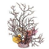 Balacoo Resina Coral Ornamental Efecto Real Girasol Pecera Decoración Artificial Acuario Paisaje Seta para La Decoración del Paisaje del Tanque de Peces Bajo El Agua