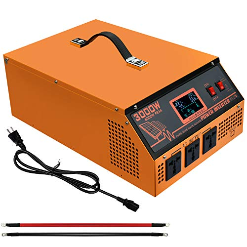ECO-WORTHY 3500W 48V All-in-ONE Solar Charge Inverter Built in 3500W 48V Pure Sine Wave Inverter & 80A MPPT Charge Controller for Off Grid Solar System