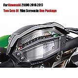 PUXINGPING- Dos Sets de filmación Pantallas en un Paquete for Kawasaki Z1000 Z 1000 2016 2017 arañazos Cluster Pantalla película de la protección del Protector