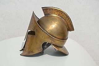 Brass Antique Spartan Helmet Medieval Armour Helmet for Your Home & Office Decor