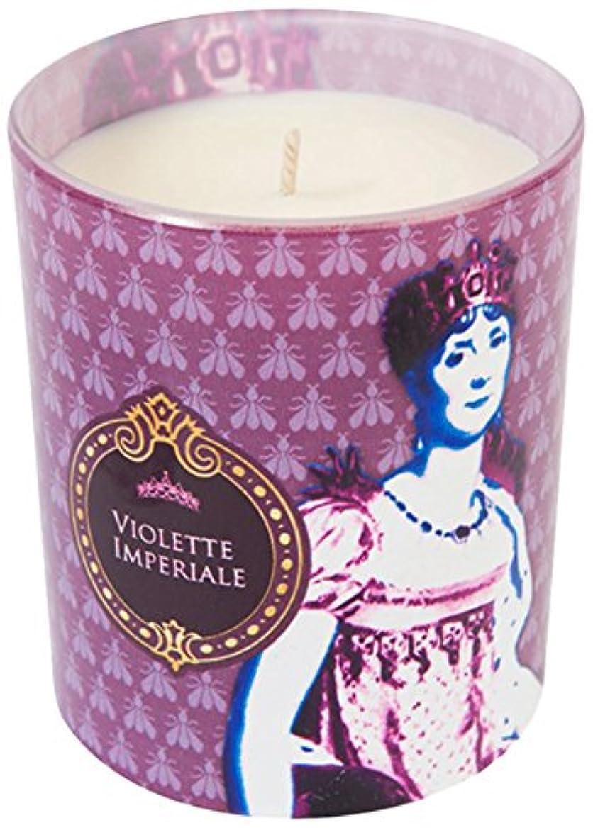 悔い改める目に見えるエイリアスヒストリア ポップアートキャンドル ウ゛ィオレット スミレの花の香り