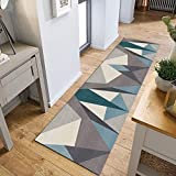 GH-YS Runner Carpet-Nordic Geometric Antideslizante Pasillo Alfombra Larga, Longitud 2-8m Alfombrilla para Piso -6 mm (Color: A, Tamaño: 1.4X2M)