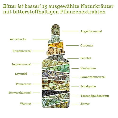 BitterLiebe® Bitterstoffe Tropfen 50ml mit praktischem Pipettenverschluss - 6