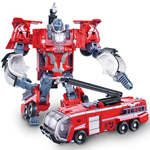 Heroes Rescue Bots, modelo de robot 5 en 1, motocicleta, camión de bomberos, grúa grande,...