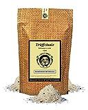 Uncle Spice Trüffelsalz - 150g feines Piemonteser Trüffelsalz - Premiumqualität - aromatisches Gourmetsalz, Meersalz mit schwarzen Trüffeln aus Piemont - von Hand hergestellt – Aromasalz