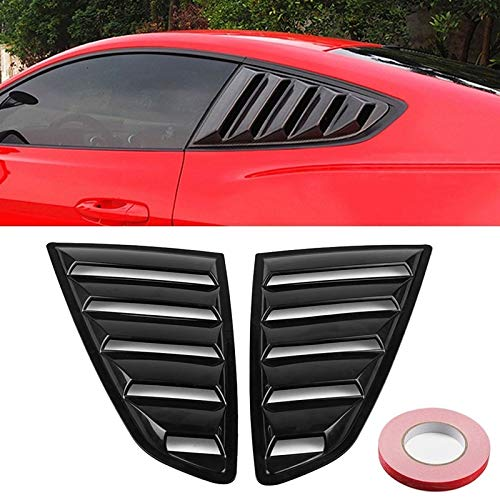 NoNo Auto Externer Aufkleber Carbon-Faser-lackiertes Blech Seitenscheibe Louver Abdeckung Kühlplatte Trim Sets, for Ford Mustang 2015-2018 (2 PCS)