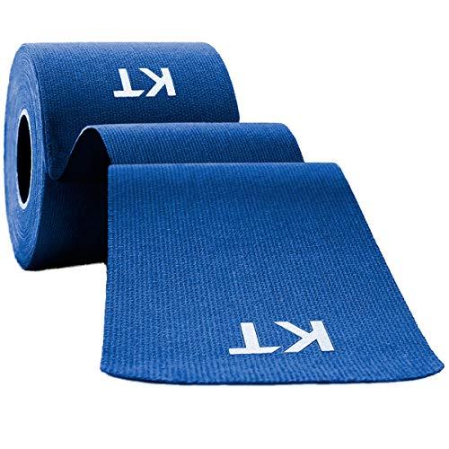KT Tape Original Cotton Elastic Kinesiology Therapeutic Athletic Tape, 16 Ft, Uncut Roll, Blue (KTCotton-UnCut16Ft-Blue)