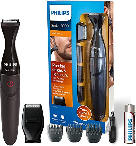 Philips MG1100/16 MultiGroom Series 1000 Präzisionstrimmer, Click On Bartstyler