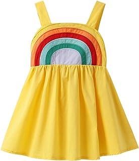 Toddler Kids Baby Girl Summer Dress Clothes Rainbow Strap Dress Backless Princess Sundress