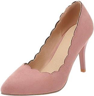 [タオフェン] レディース ファッション ピンヒール パンプス フリル 通勤 靴 ポインテッドトゥ