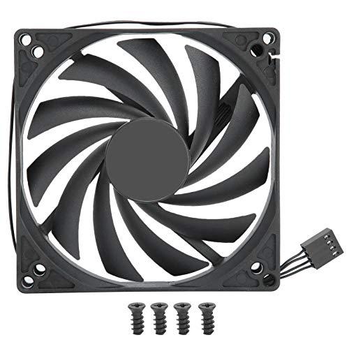 Ventilador del radiador de la CPU: ventilador del radiador de la CPU de bajo ruido para la mayoría de las carcasas de computadoras, enfriador de PC de 4 pines PWM, regulación de velocidad de 12 V, ref