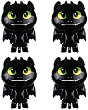 MT TTL 4PCS How to Train Your Dragon 3 Toothless Night Fury Balloons Party Supplies Decorations