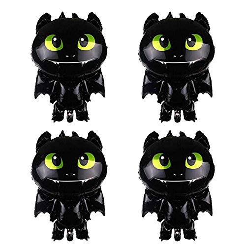 MC TTL How to Train Your Dragon 3 Balloons, Night Toothless Balloons, How to Train Your Dragon Balloon Party Supplies Decorations