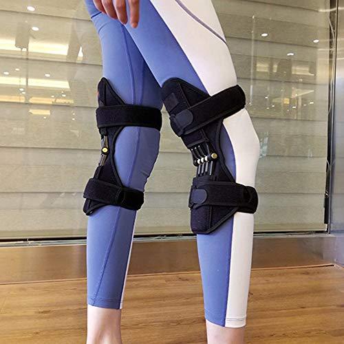 XTT (1 Par) Booster Protección Rodilla Booster- Conjunto De Apoyo Rodilleras Brace Transpirable Rodilla con Una Potente Fuerza-Rebote Spring Deportes Al Aire Libre Ejercicio De Escalada A
