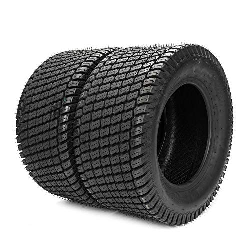 SUNROAD Set of 2 Turf Lawn Tractor Mower Tires 24x12-12 4PR P332 Tubeless Sawtooth Tread