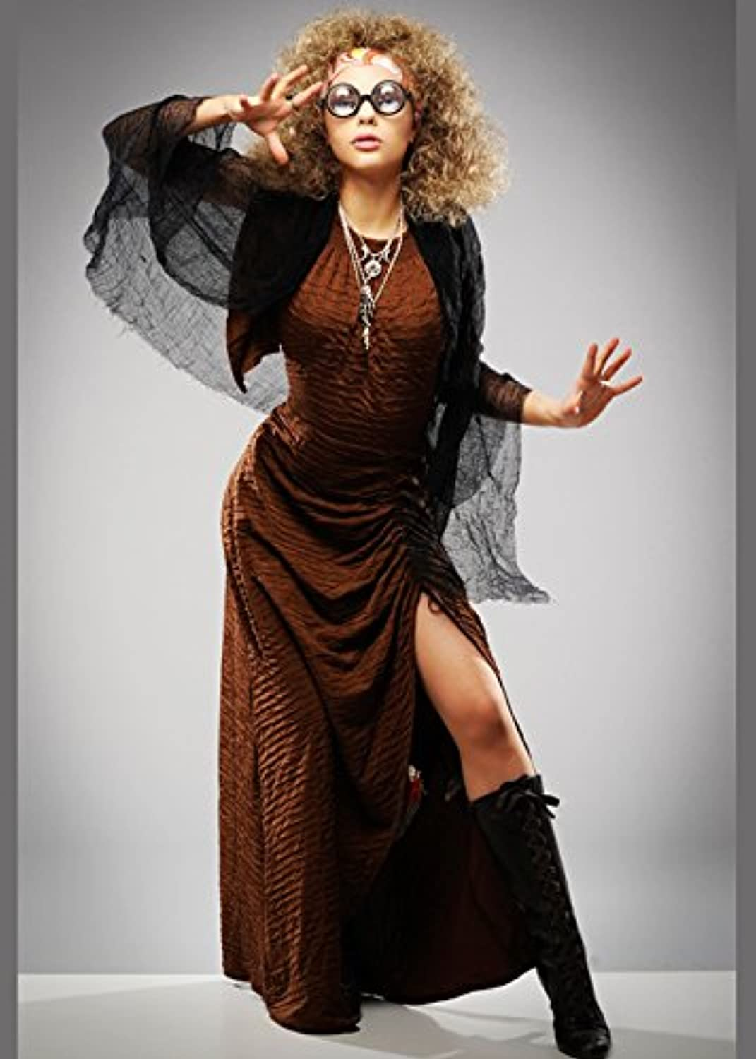 MagicBox Sybill Trelawney Style Divination Teacher Costume with Wig