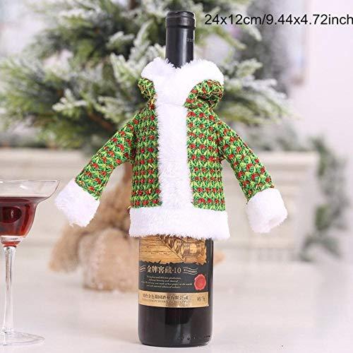 HJCWL 1 stuks Santa Claus wijnflesafdekking sneeuwpop cadeau Kerstmis jaar navidad jaar avondeten tafel decoratie voor thuis