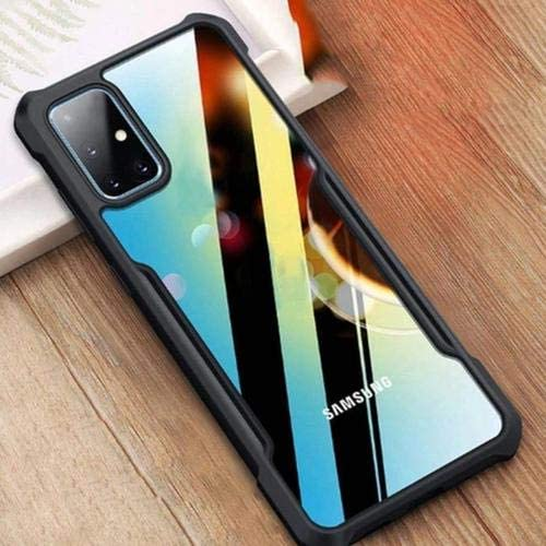 mobbysol Samsung M51 Back Cover case Shockproof Transparent Bumper 360 Degree Camera Protection Case Cover for Samsung Galaxy M51 Samsung M51 Trans Black