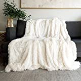 Throw Blankets for Bed,Solid White Fluffy Blanket King Size 78' x 90',Cozy White Decorative Faux Throw Blanket for Couch,Sofa,Faux Fur Blanket