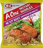 A-ONE Fideos Instantáneos, Sabor Carne de Pato Tostado 80 g