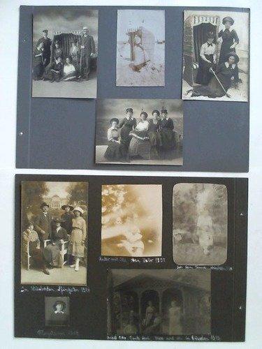 4 Atelier-Aufnahmen, 1 original Strand-Aufnahme mit Strandkorb sowie 16 Fotobeigaben