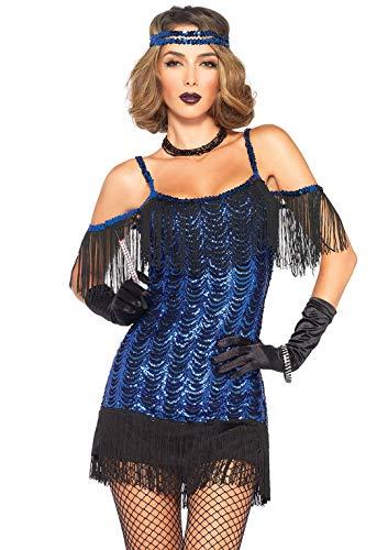Leg Avenue 85369 - Gatsby Flapper Damen kostüm , Größe Medium (EUR 38), Karneval Fasching