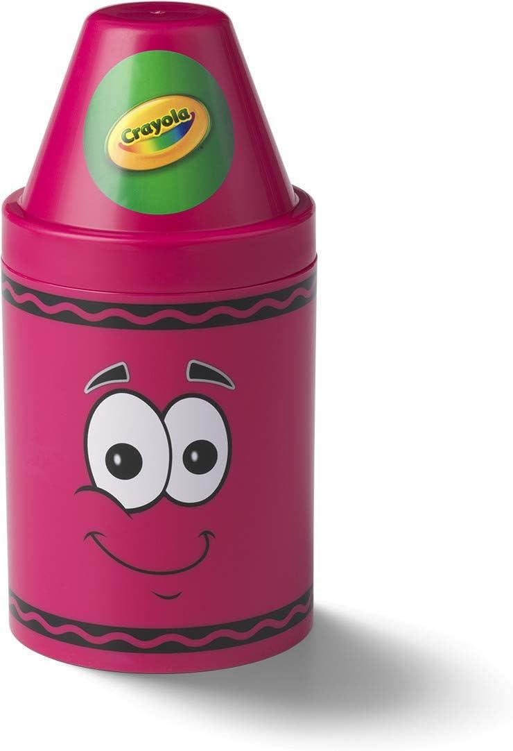 Crayola Storage Container, Large, 5-1/2 x 12 Inches, Razzmatazz (20050214)
