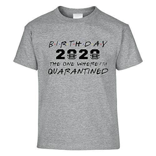 Amo Distro Virus Top Kids Maglietta per bambini compleanno 2020 Social Distancing Quarantine Self Isolation (unisex per bambini) Grigio 7-8 Anni