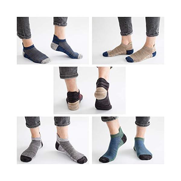5 Pairs Low Cut Ankle Socks Mens Socks Cotton Mesh Low Top Socks Men Fresh Ventilation Socks for Men Men's Shoe Size 9-12(US)