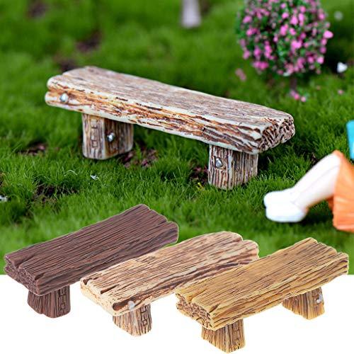 Yanhonin - Micro paisaje Bonsái DIY decoración de 1 silla retro miniatura decoración de jardín feria, decoración de casa de muñecas